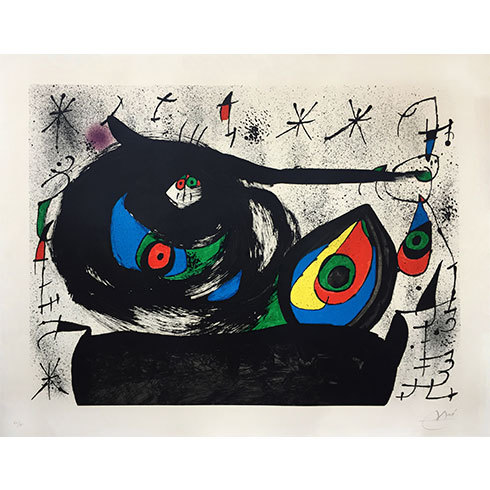 Homenaje A Joan Prats (m.715) by Joan Miro