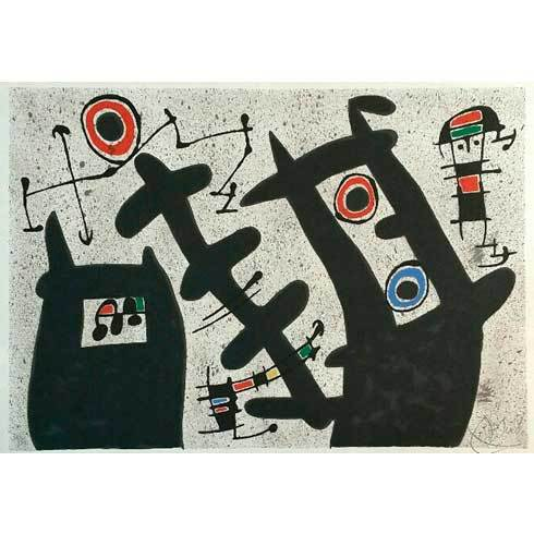 """""""le Lezard Aux Plumes D´or"""" (mourlot 794) by Joan Miro"""