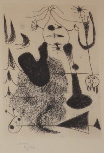 Sablier Couche by Joan Miro at Isselbacher Gallery (IFPDA)
