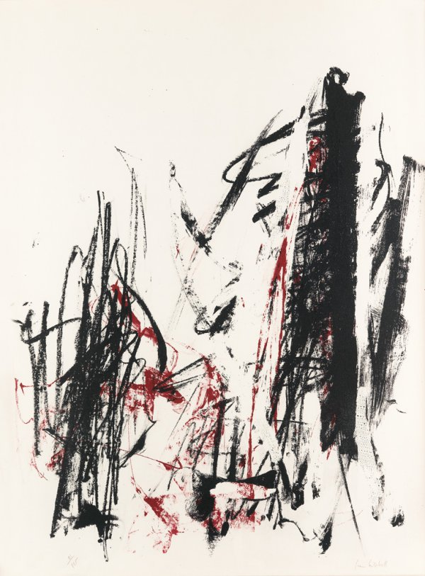 Arbres (Black & Red) by Joan Mitchell