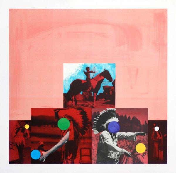 Cliche: North American Indian (red) by John Baldessari