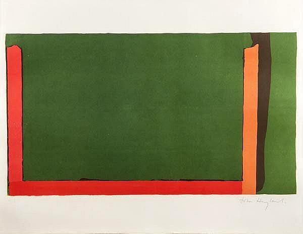 Small Swiss Green by John Hoyland at