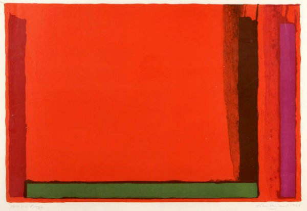 Small Swiss Red by John Hoyland at