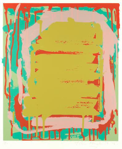 Untitled (ochre) by John Hoyland