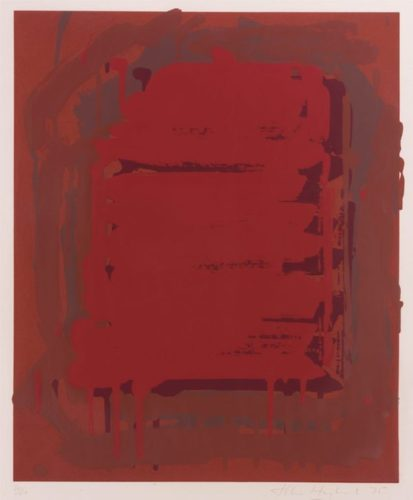 Untitled (red) From The Sutton Suite by John Hoyland at