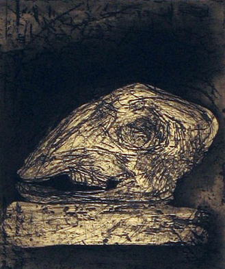 Untitled (sheep Skull) by John Walker