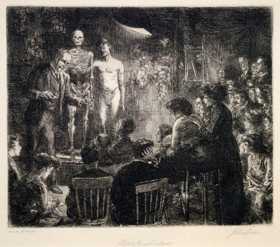 Anshutz On Anatomy by John Sloan at Harris Schrank Fine Prints (IFPDA)