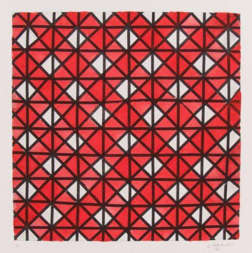 White, Black & Red Ii by Jonathan Higgins