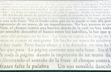 Una Sola Frase by Joseph Kosuth at InvesArt Gallery