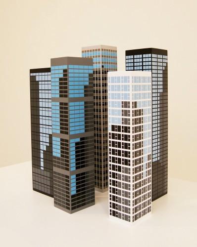 Modern Towers by Julian Opie at Julian Opie
