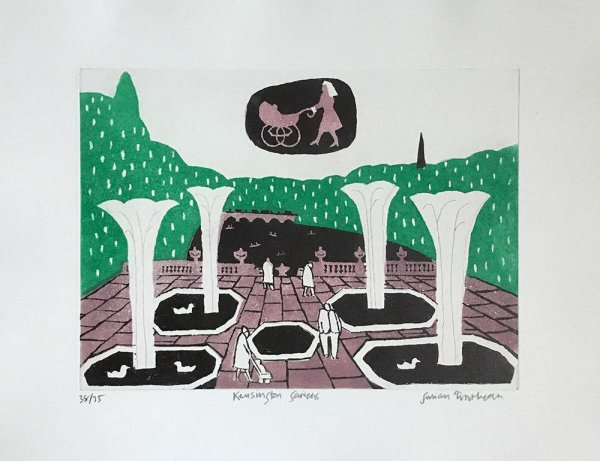 Kensington Gardens by Julian Trevelyan at ModernPrints.co.uk