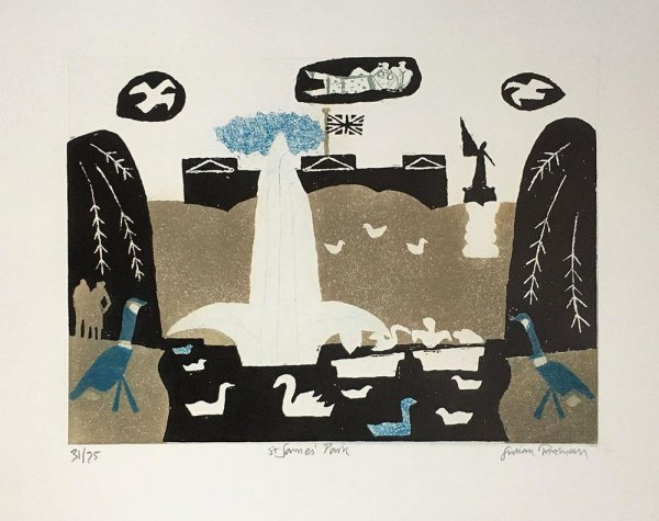 St James' Park by Julian Trevelyan at ModernPrints.co.uk