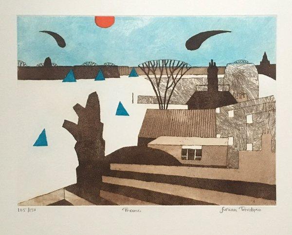 Thames by Julian Trevelyan at ModernPrints.co.uk