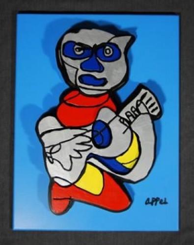 (after Appel) Indigo Blue by Karel Appel