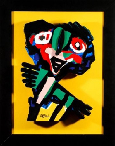 (after Appel ) Face by Karel Appel