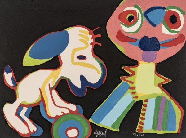 Circus 04 – Sur La Piste De Manhattan by Karel Appel