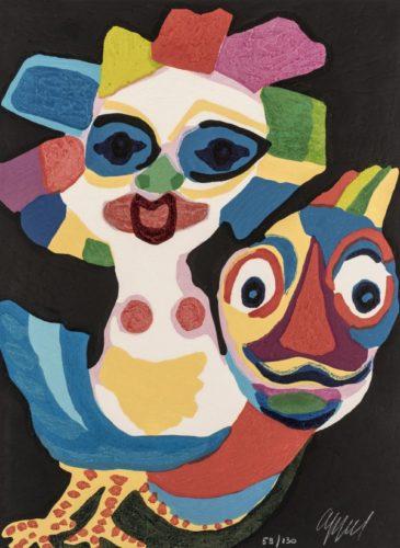 Circus 08 – Ecuyère En Or 18 Carats by Karel Appel