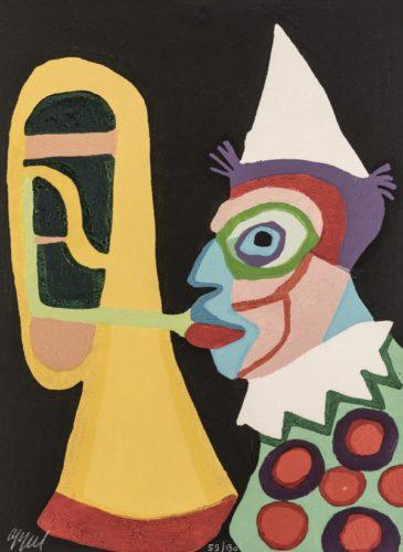 Circus 12 – Clown D'amsterdam by Karel Appel