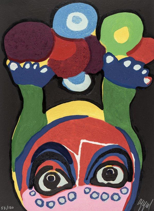 Circus 22 – Clown Visage Paysage by Karel Appel