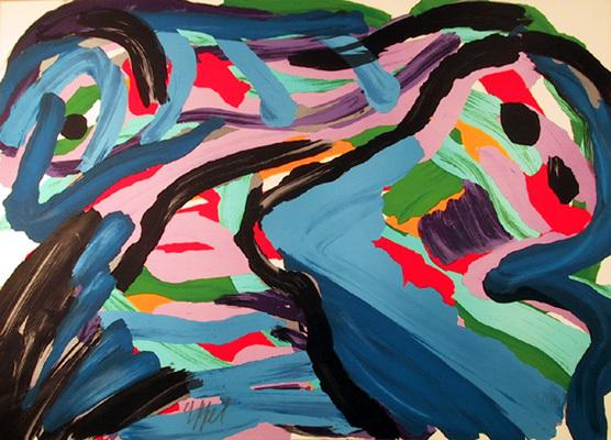 Floating In A Landscape by Karel Appel