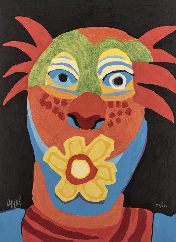 Circus 17 – Le Dompteur à La Rose by Karel Appel