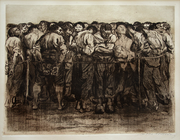 Die Gefangenen (the Prisoners) by Käthe Kollwitz at