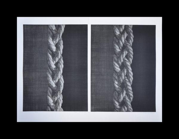 Object – Knitted Rope (diptych) by Katsunori Hamanishi