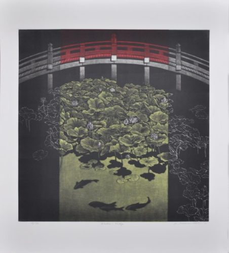 Window Bridge by Katsunori Hamanishi at Hanga Ten - Contemporary Japanese Prints