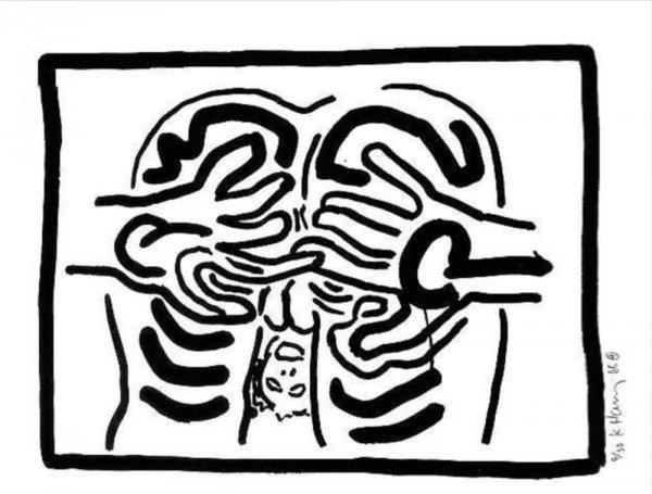 Bad Boys Ii by Keith Haring
