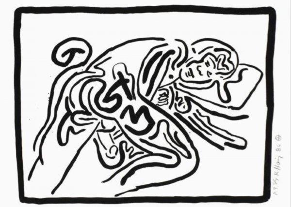 Bad Boys I by Keith Haring
