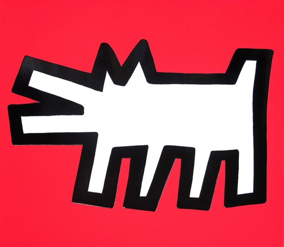 Barking Dog (icon Series) by Keith Haring
