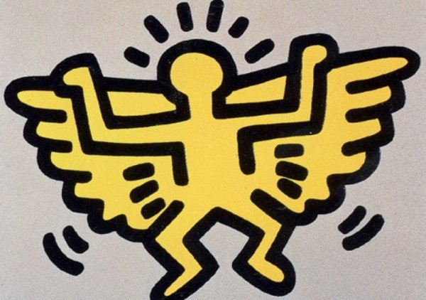 Icons: (c) Angel by Keith Haring at Keith Haring