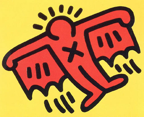 Icons: (d) Batman by Keith Haring