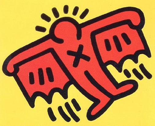 Icons: (d) Batman by Keith Haring at Keith Haring