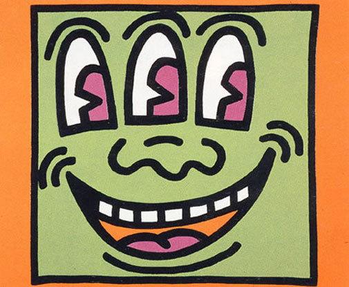 Icons: (e) Three Eyed Man by Keith Haring