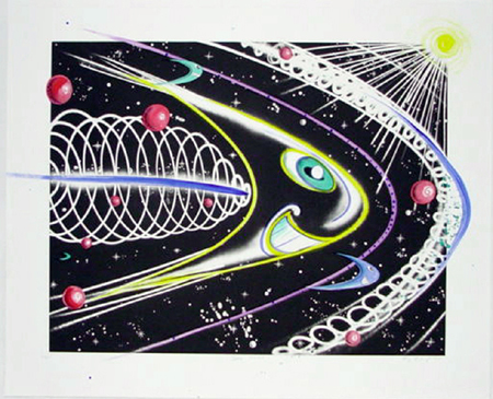 Space Traveler by Kenny Scharf at