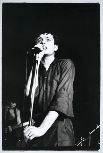 8.Ian Curtis, Joy Division, The Factory Hulme by Kevin Cummins at