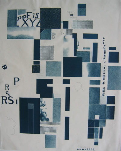 Lithograph And Collage by Kurt Schwitters