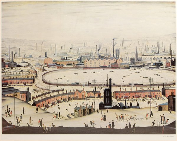 The Pond by L S Lowry at Peter Harrington Gallery