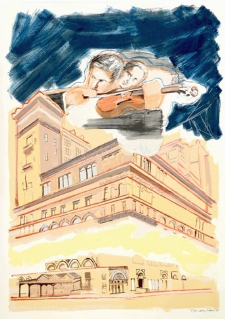 Sky Music Over Carnegie Hall by Larry Rivers