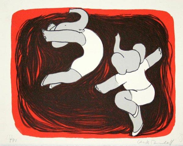 Dancing Elephants Iii by Laurent de Brunhoff