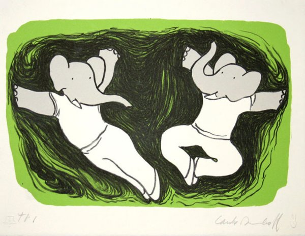 Dancing Elephants Ii by Laurent de Brunhoff