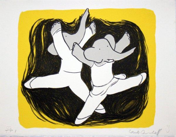 Dancing Elephants Iv by Laurent de Brunhoff