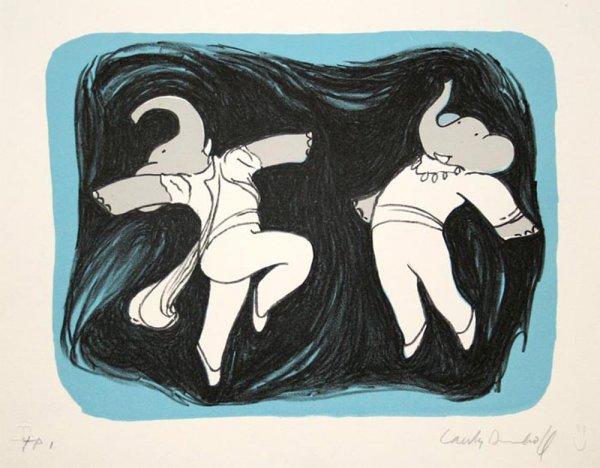Dancing Elephants I by Laurent de Brunhoff
