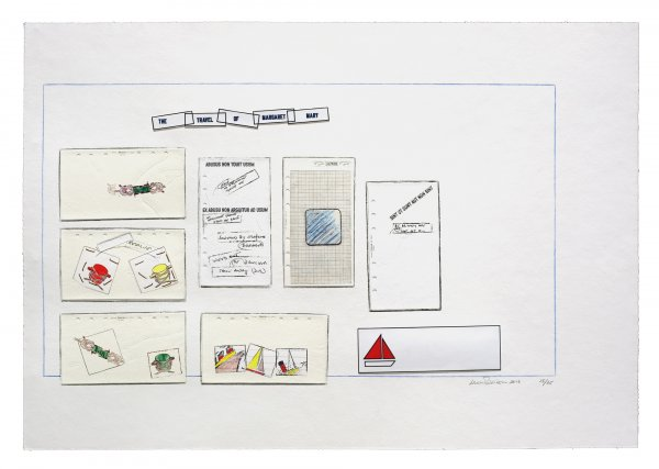 The Travel Of Margaret Mary by Lawrence Weiner at