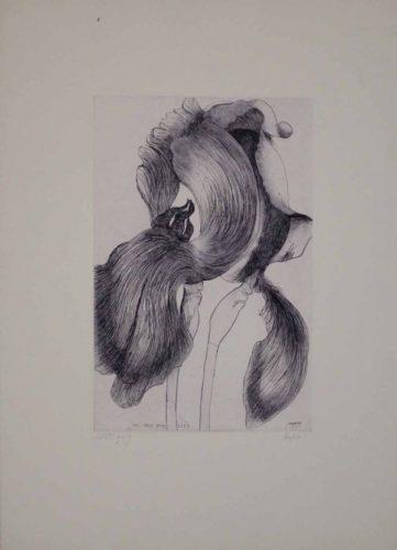 An Iris For Lisa by Leonard Baskin at