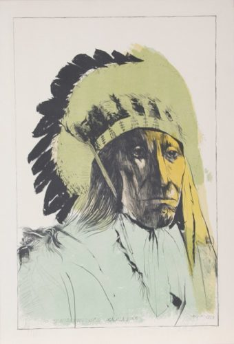 Chief American Horse – Oglalla Sioux by Leonard Baskin at