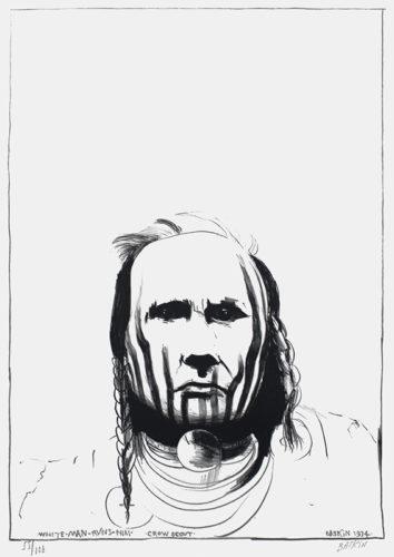 Crow Scout / White Man Runs Him by Leonard Baskin at