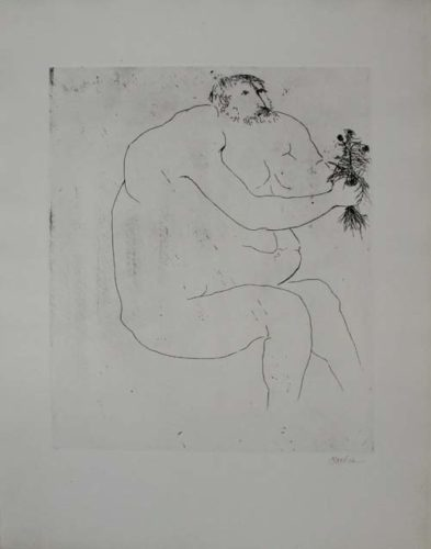 Drawings For The Iliad (complete Set Of Six Etchings) by Leonard Baskin