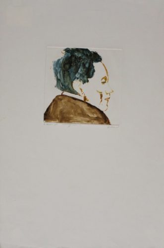 Egon Schiele by Leonard Baskin at